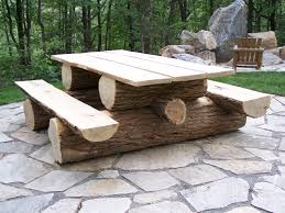 Outdoor Patio Table Plans by Marvelous Log Picnic Table Plans 92 In Beautiful Picnic Tables