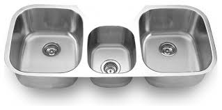 Undermount Triple Bowl Sink Kitchen Sinks By SFC Center Inc - Triple sink kitchen
