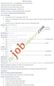 Resume Sample 2014 Actuarial Science Resume Examples With Actuary Resume Template