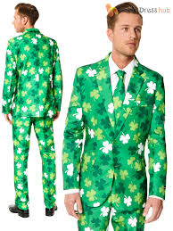 mens st patricks day suitmeister adults suit irish shamrock clover