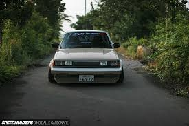 stanced toyota stanced toyota carina 172 inches of head turning straight lines