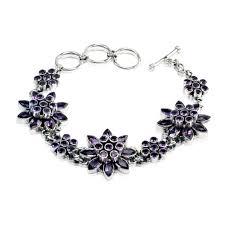gemstone link bracelet images Amethyst floral gemstone link bracelet himalayan gems jpg