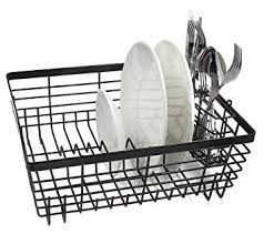 ESYLIFE Kitchen Sink Dish Drainer Large Dish Rack Cutlery Drainer - Kitchen sink plate drainer