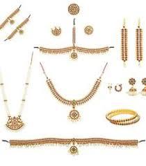 bharatanatyam jewellery set on mirraw