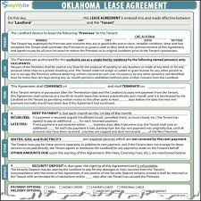 Terminate Lease Letter Oklahoma Rental Lease