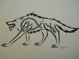 celtic crouching wolf tribal tattoo by archangelvampire on deviantart