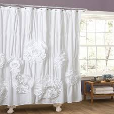 Gypsy Shower Curtain Amazon Com Lush Decor Serena Shower Curtain 72 By 72 Inch Ivory