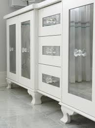 bathroom frameless bathroom cabinet mirror with glass shelves for
