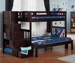 twin full over full bunk beds with stairs easy full over full