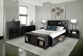 Bedroom Furniture Stores Nyc Prepac Coal Harbor 6 Drawer Platform Storage Bed Black 395 00