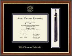 tassel frame olivet nazarene tassel edition diploma frame in newport