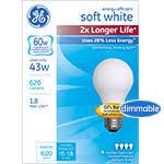 ge energy efficient soft white incandescent light bulbs ge