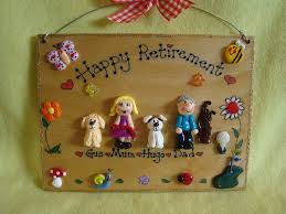 retirement plaque 4 character large family sign 7 x 5 inches retirement plaque