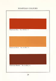 pompeian red one of a range of red brown colours found in the
