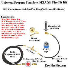 Easy Fire Pits by Ck Kit Universal Propane Complete Deluxe Fire Pit Kit U2013 Includes