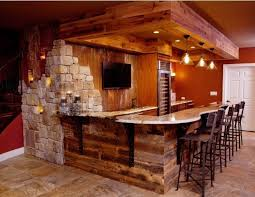 Finished Basement Bar Ideas Rustic Basement Rustic Finished Basement Bar For The Home