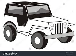 safari jeep drawing black u0026 white clipart jeep pencil and in color black u0026 white