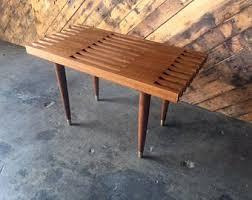 Slat Bench Coffee Table Spb 5 Spruce Slat Bench Eames Era Mid Century Modern Design