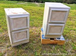 How To Paint A Metal File Cabinet While They Snooze File Cabinet Update