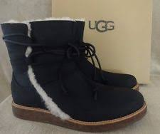 s ugg australia leather boots ugg leather boots luisa black s size 10 ebay