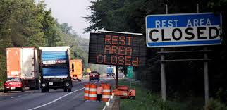 rest area finder brown state says interstate rest areas can t hold it much longer