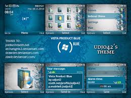 udjo42 themes for nokia c3 vista product blue nokia c3 theme
