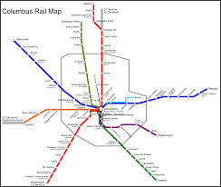 Train Map Chicago by Fantasy Maps Xing Columbus