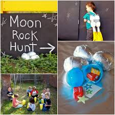 rocket party game moon rock hunt fill easter eggs and wrap in