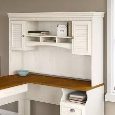 bush fairview collection l shaped desk amazon com fairview hutch for l shaped desk in antique white