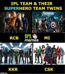 Rcb Memes - ipl memes on twitter ipl teams their superhero twins rcb kkr