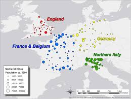 map western europe cities map of western european settlements ca 1300 ce examined in this