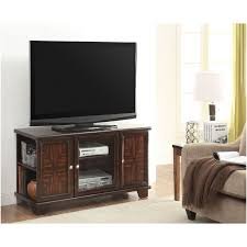 Cherry Wood Shelves by Dark Brown Wooden Tv Stand With Three Shelves For Electronic On