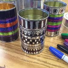 halloween tin cans sharpies and tin cans sharpies recycling projects and sharpie art