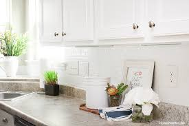 SelfAdhesive Kitchen Backsplash How To Nest For Less - Adhesive kitchen backsplash