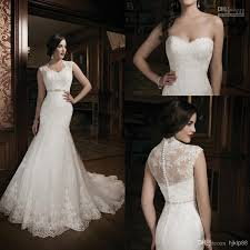 2014 new collection mermaid lace ivory wedding dress bridal gown