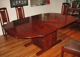 round mahogany dining table pads above wood floor refinishing
