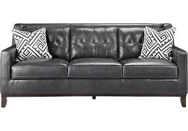 Gray Leather Sofa Rooms To Go Reina Gray Leather Sofa Interior Design
