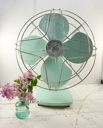 old fashioned electric fan industrial decor farmhouse decor metal electric fan cottage
