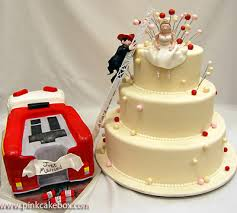 fireman wedding cake toppers rescue me themed wedding cake wedding cakes