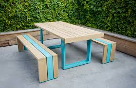 Make Your Own Picnic Table Plans by Modern Picnic Table Archives The Loved Home