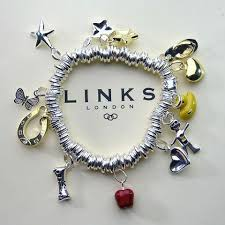 links silver bracelet charms images Links of london sweetie charm bracelet with mismatched colors png