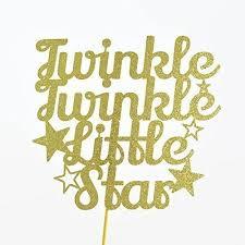 twinkle twinkle cake topper twinkle twinkle gold glitter paper cake