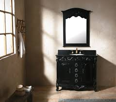 bathroom traditional oval wood framed wall mirror and black