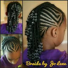 images of kids hair braiding in a mohalk cornrow mohawk with black and clear beads jo lene gentle braids