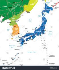 Dalian China Map Japan Map Stock Vector 111495701 Shutterstock