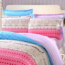softest sheets striped bedding love heart pattern bedding girls comforter sets
