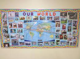 World Map Push Pin Board by Kindergarten Friends U0027 Blog Our World Bulletin Board