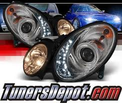 sonar drl led projector headlights 03 06 mercedes e320