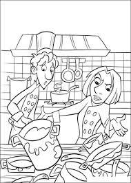 coloriage cuisine coloriage alfredo et colette dasn la cuisine sale coloriages à