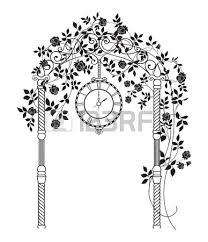 wedding arch leaves wedding arch with roses and leaves isolated white vector